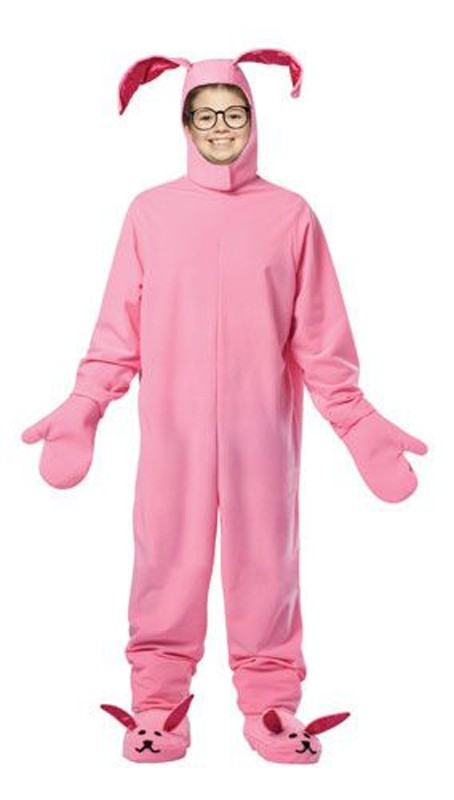 Kids Christmas Pink Bunny Costume 7-10