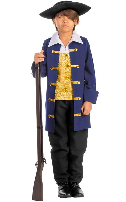 Kids Colonial Soldier Costume