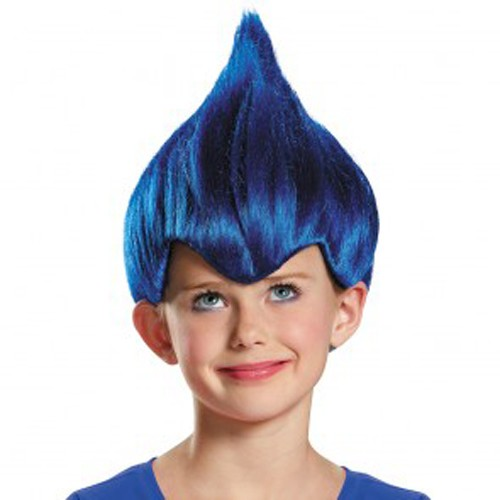 Kids Dark Blue Troll Wig