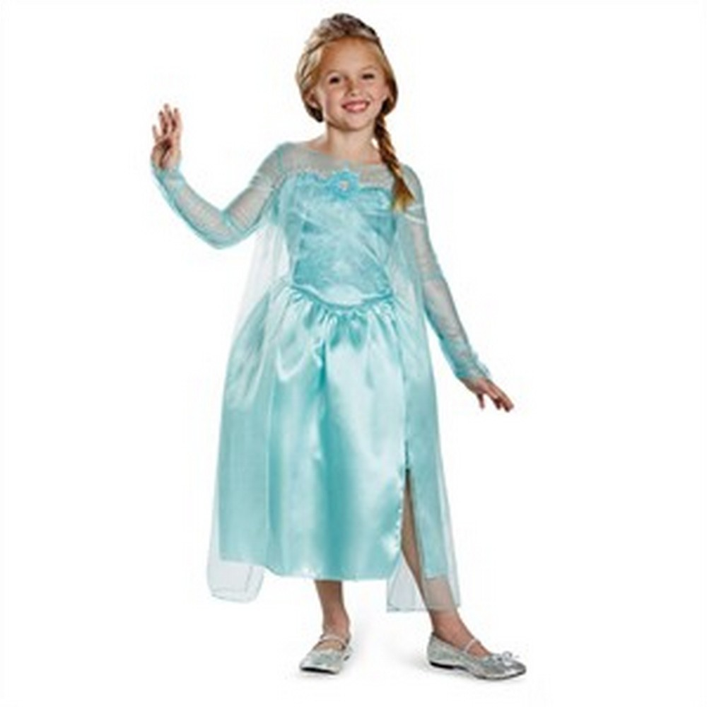 Kids Elsa Snow Queen Gown