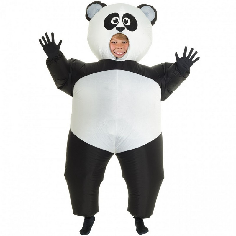 Kids Giant Panda Inflatable Costume