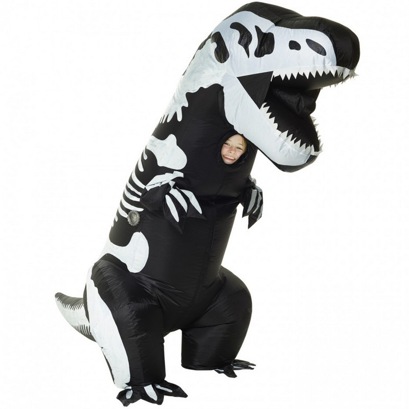 Kids Giant Skeleton T-Rex Inflatable Costume