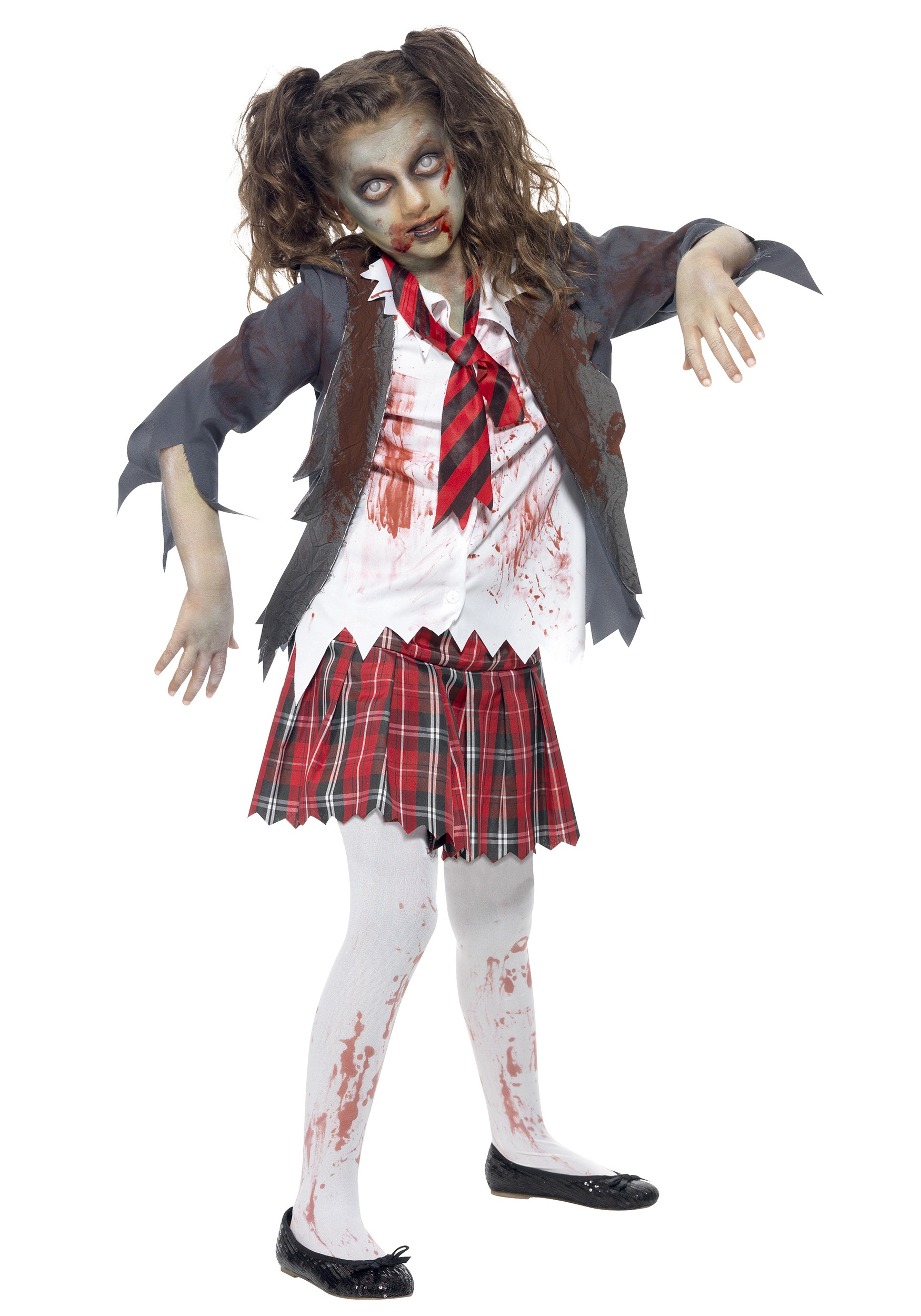 Kids Zombie School Girl Costume