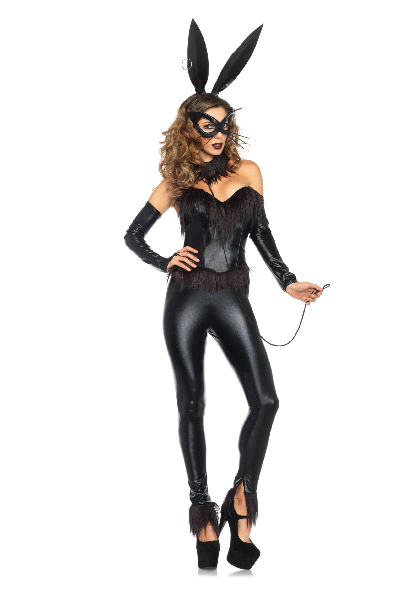 Leather Lady Bunny Costume
