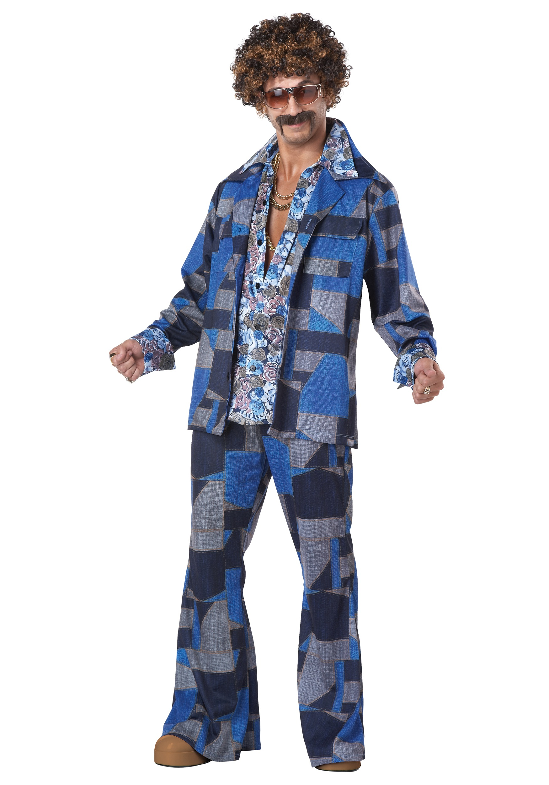 Mens Boogie Nights Leisure Suit Costume