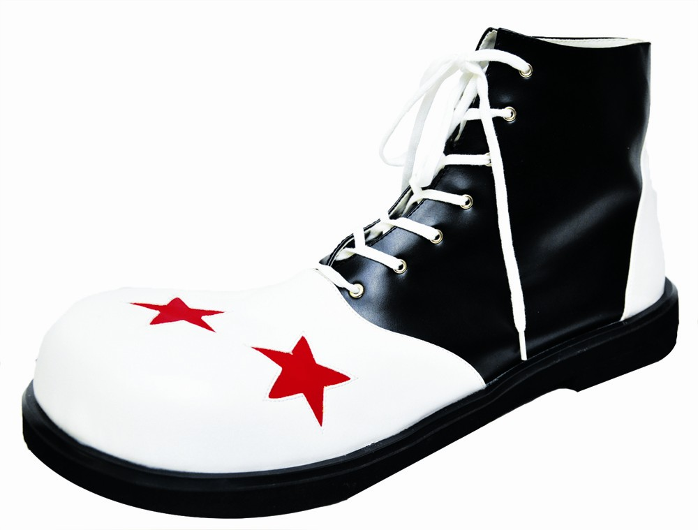 Men's Clown Shoe Wing Tips - Black and White