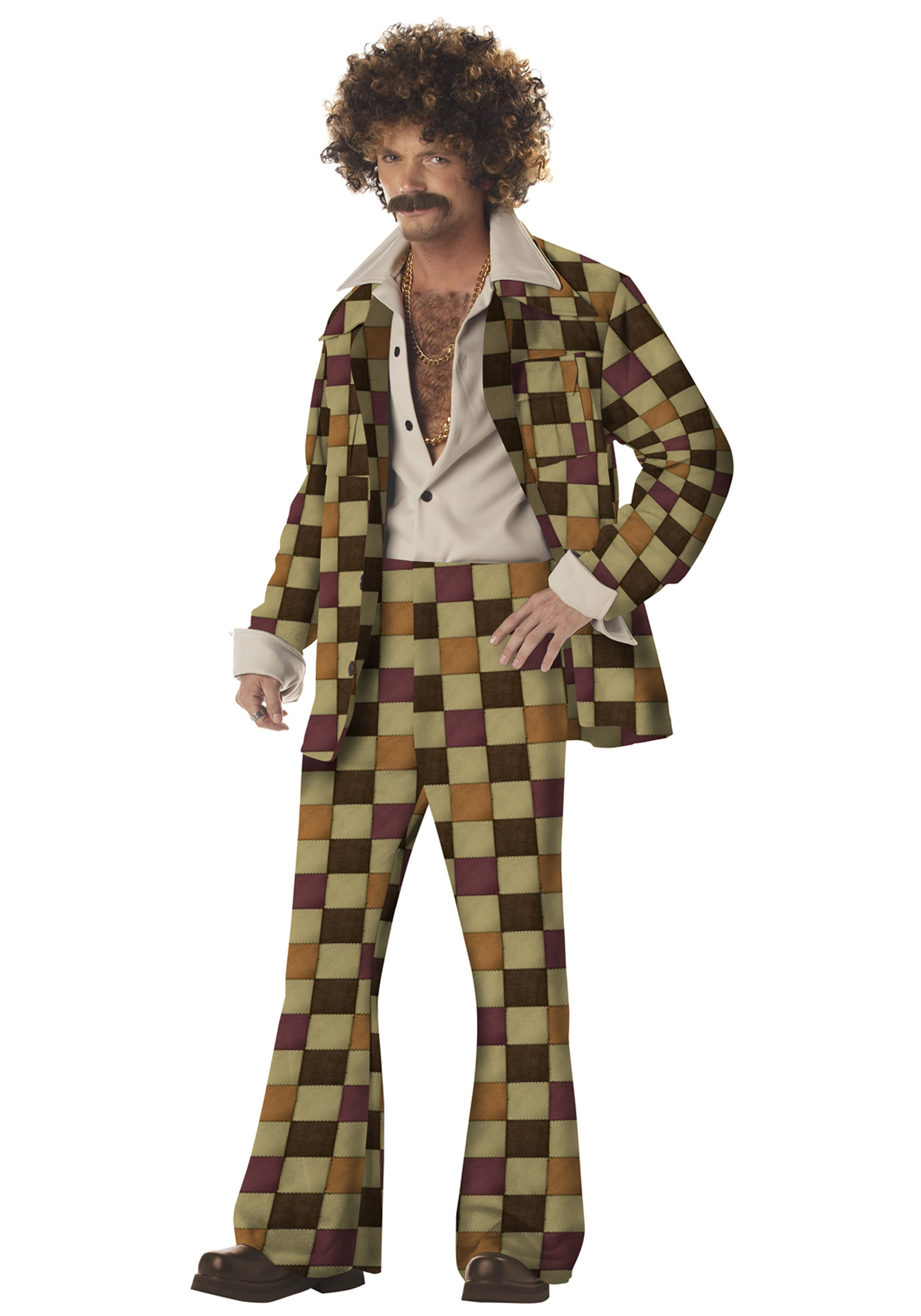 Mens Disco Leisure Suit Costume