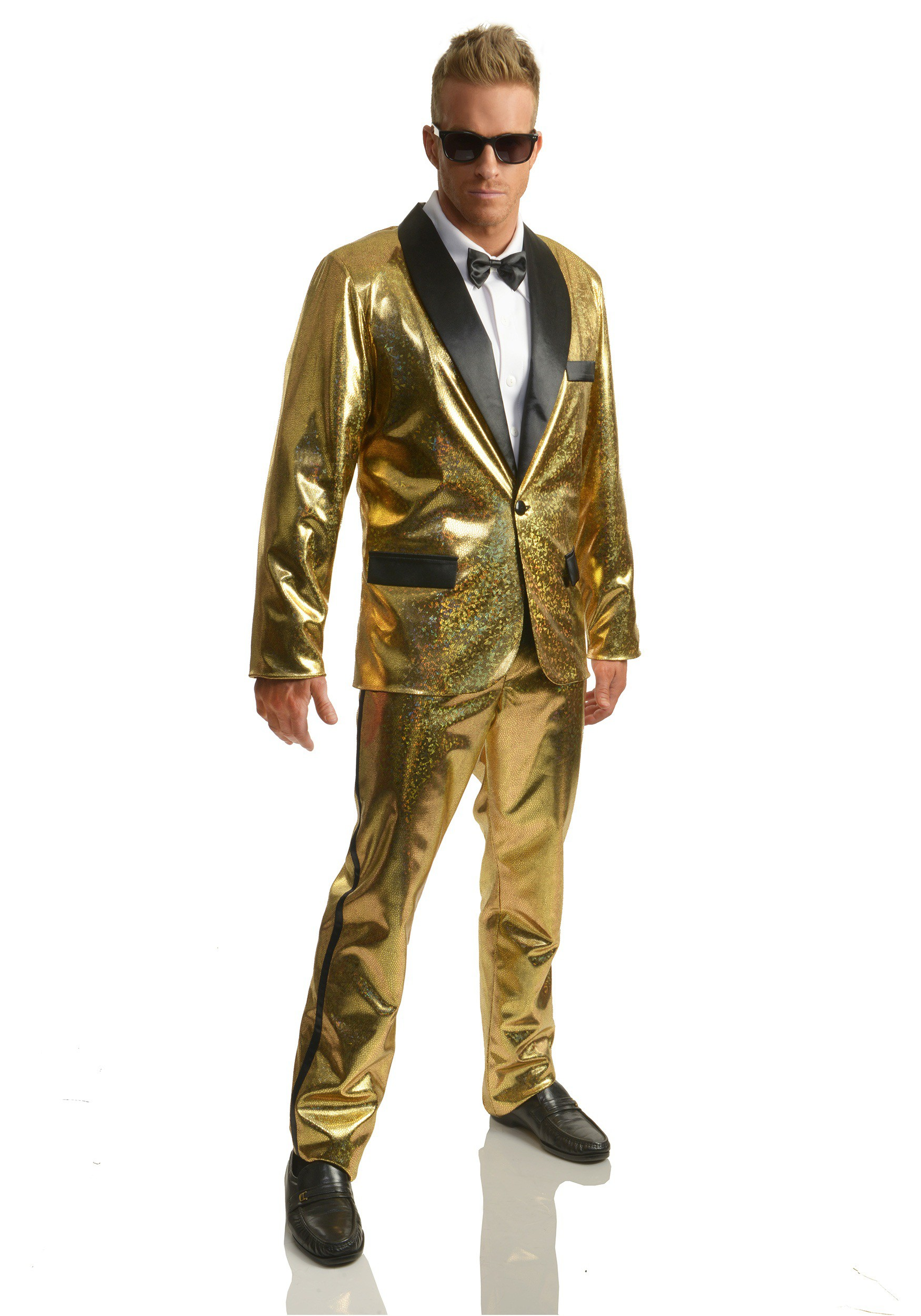 Men's Gold Disco Ball Tuxedo Costume