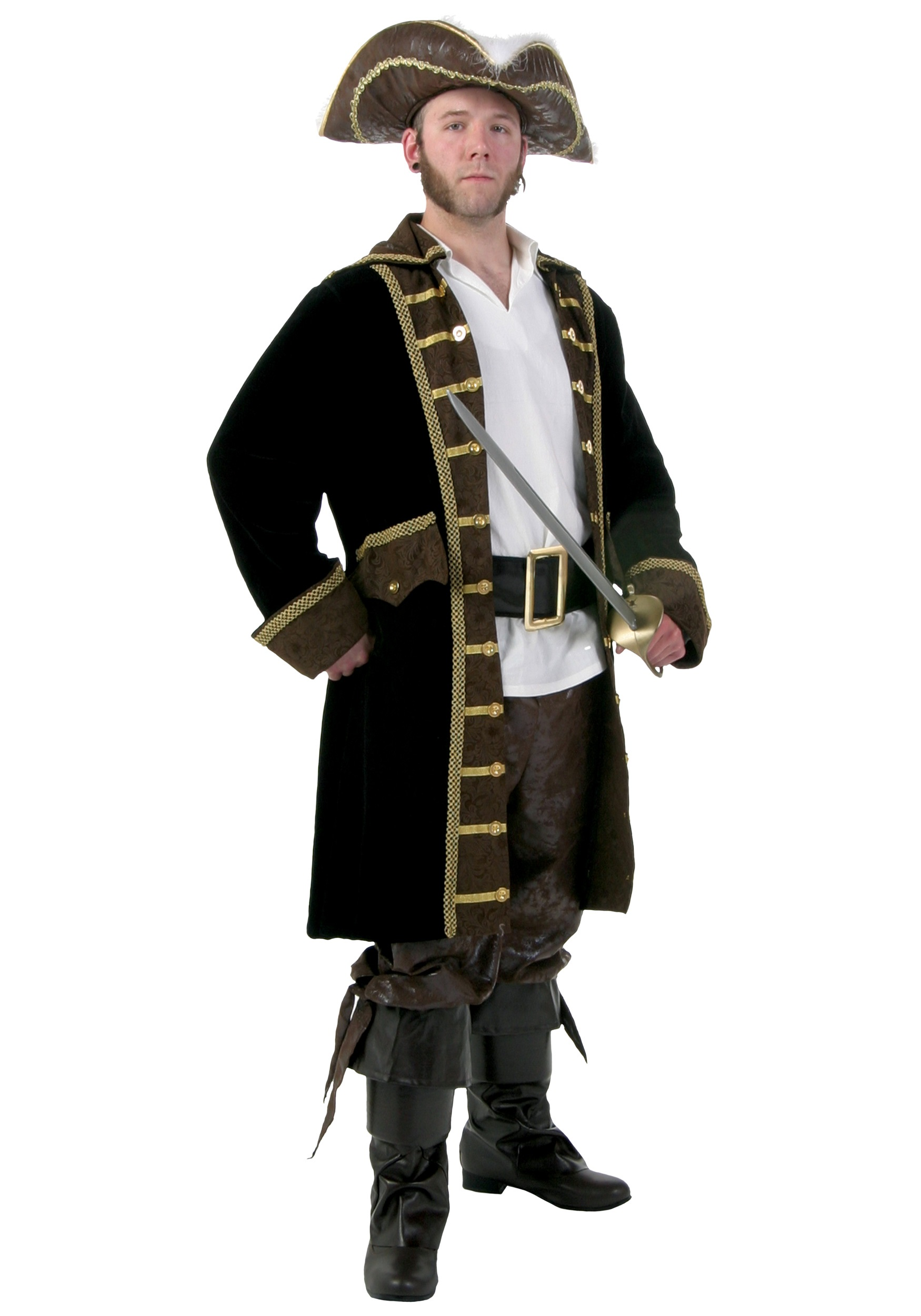 Men's Plus Size Realistic Pirate Costume
