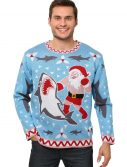 Men's Santa vs Shark Christmas Sweater