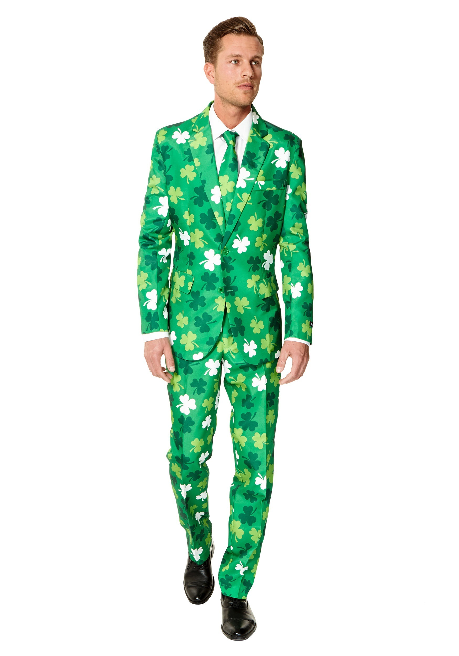 Men's SuitMeister St. Patrick's Day Clovers Suit