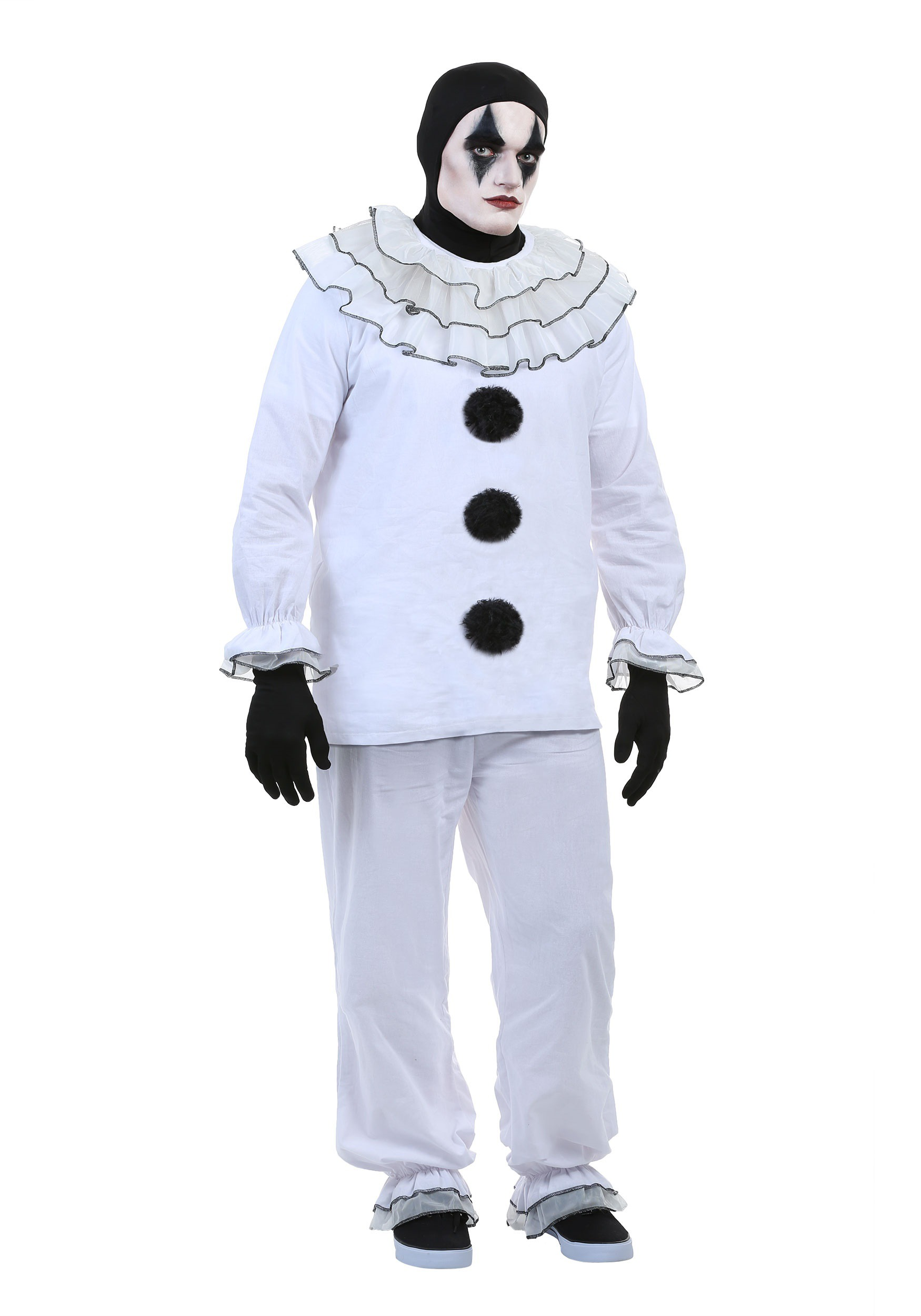 Men's Vintage Pierrot Clown Costume