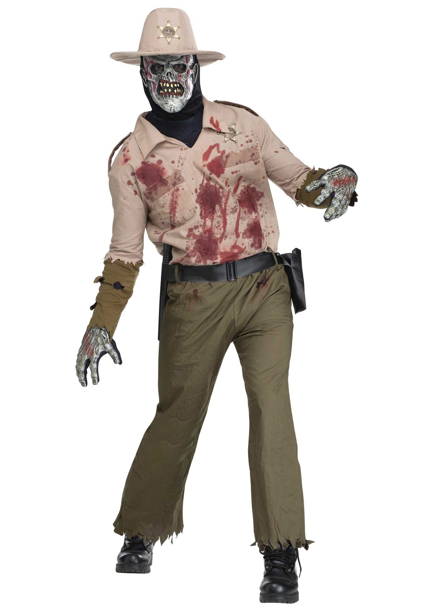 Mens Zombie Sheriff Costume