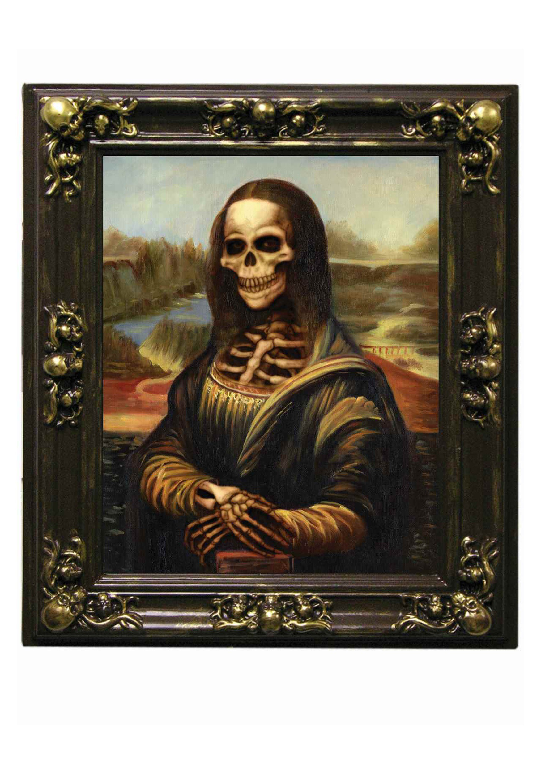 Mona Lisa Skeleton Lenticular Picture