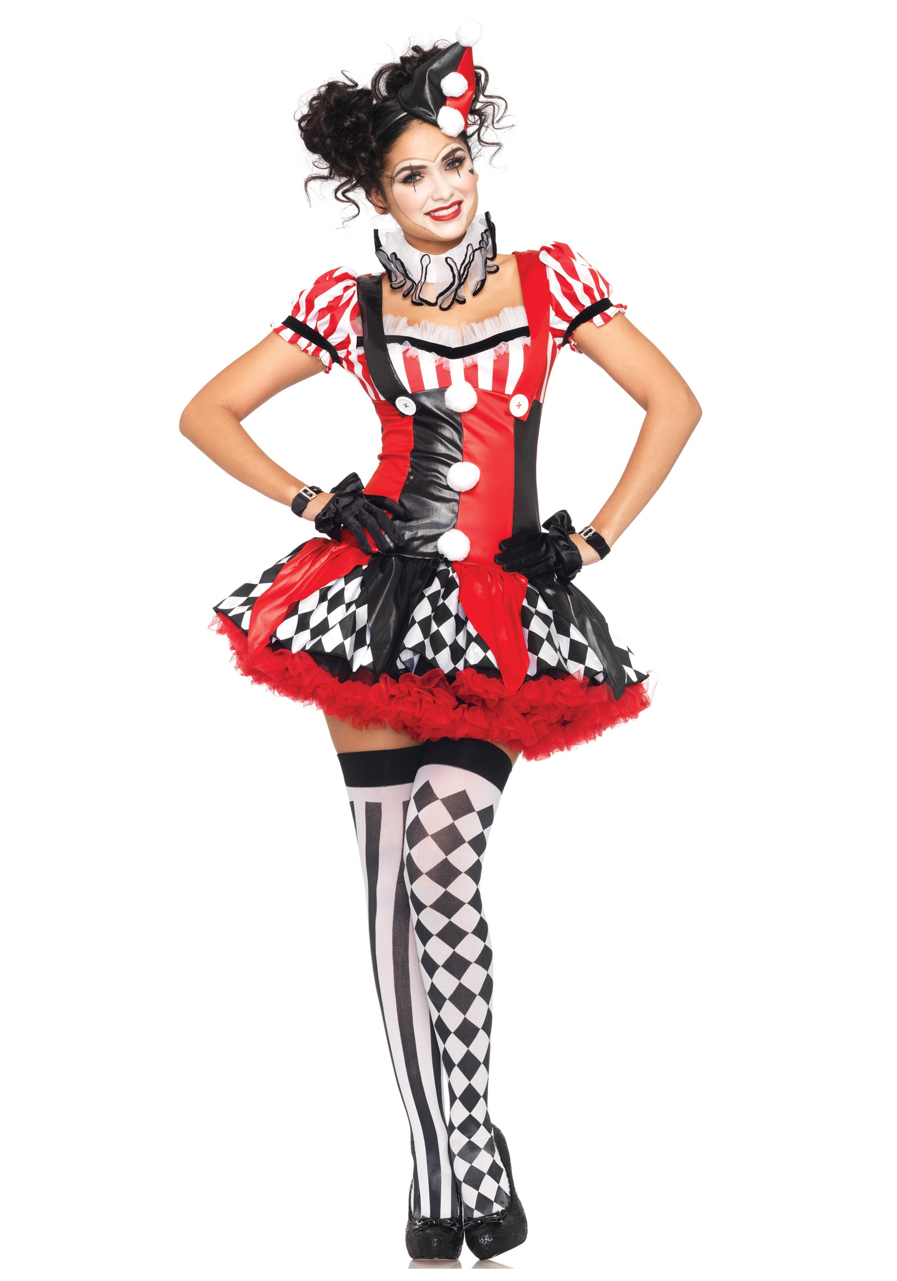 Naughty Harlequin Clown Costume