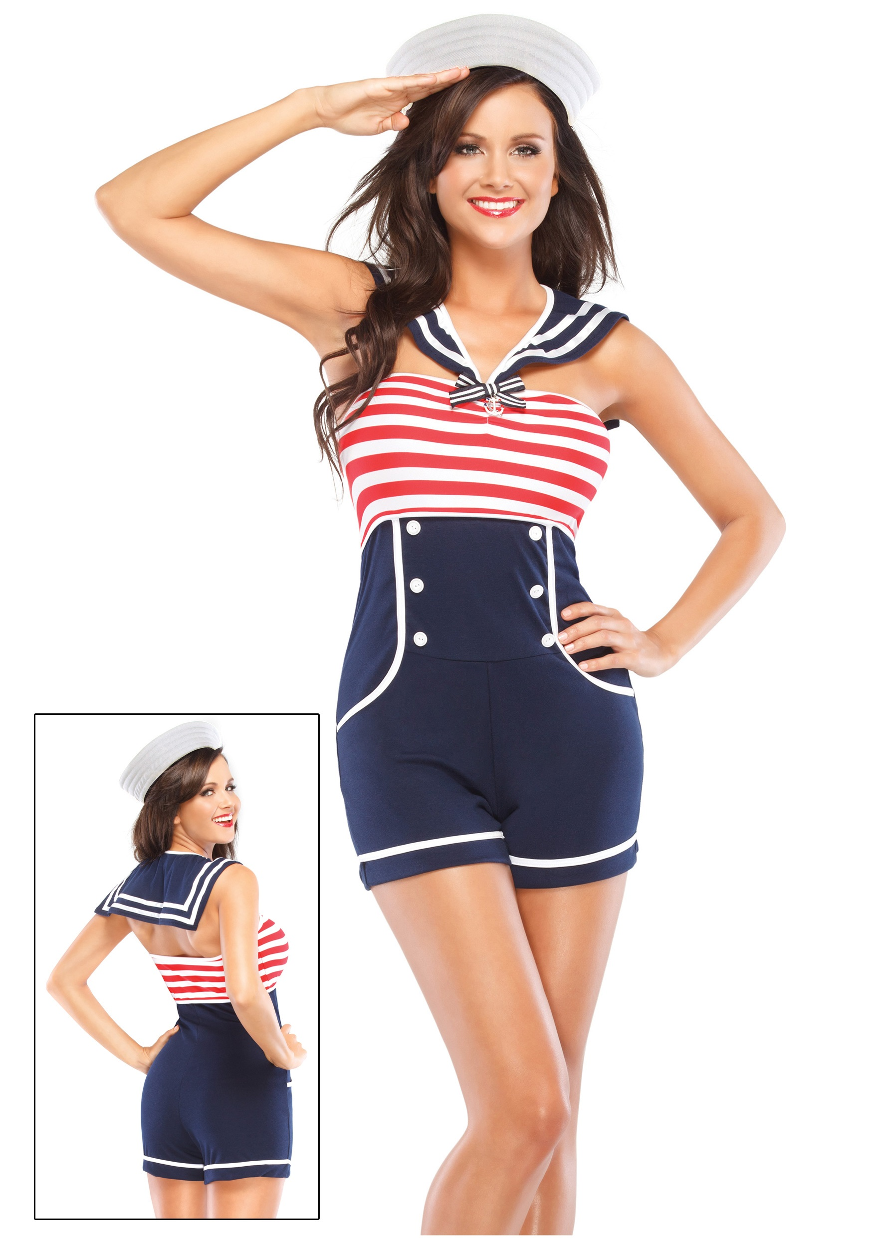 Nautical Pin Up Sailor Costume