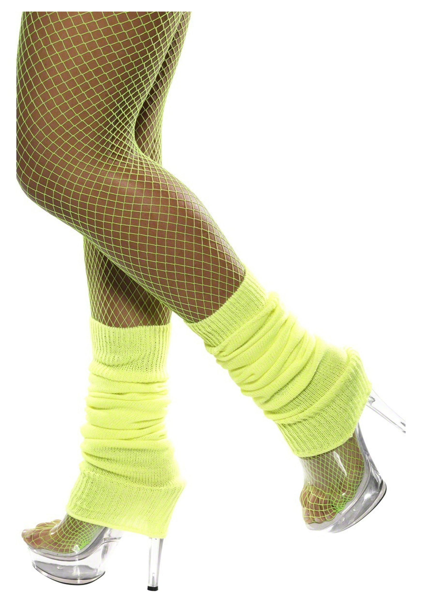 Neon Yellow Leg Warmers