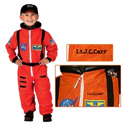 Personalized Child Astronaut Costume (Orange)