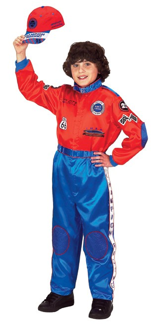 Personalized Child Racing Costume (Blue/Red)