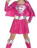 Pink Child Supergirl Costume