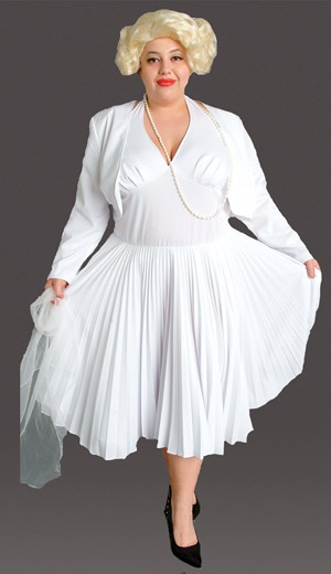 Plus Size 50's White Halter Dress