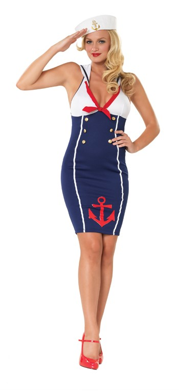 "Plus Size ""Ahoy There Hottie"" Sexy Sailor Costume"