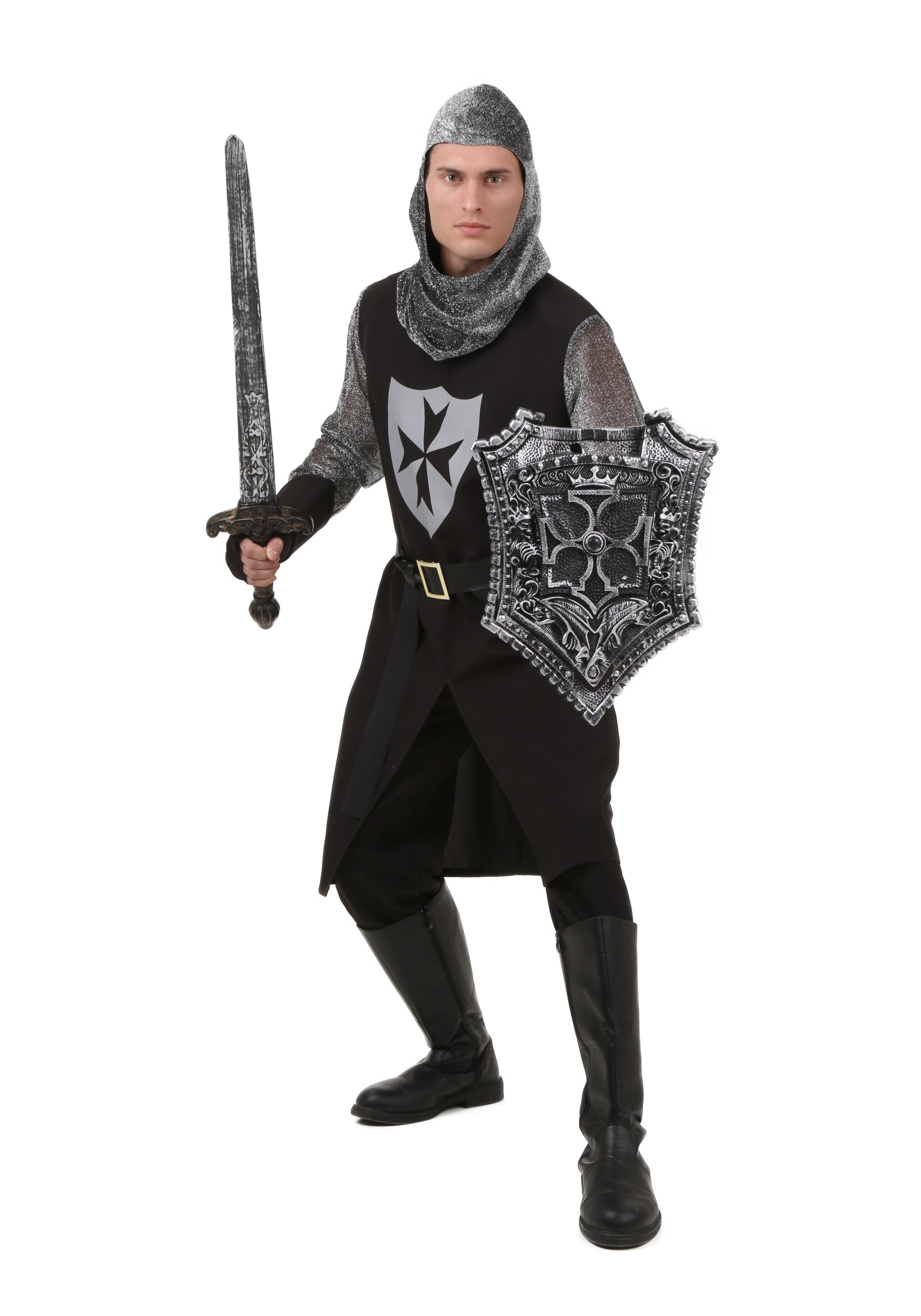 Plus Size Black Knight Costume