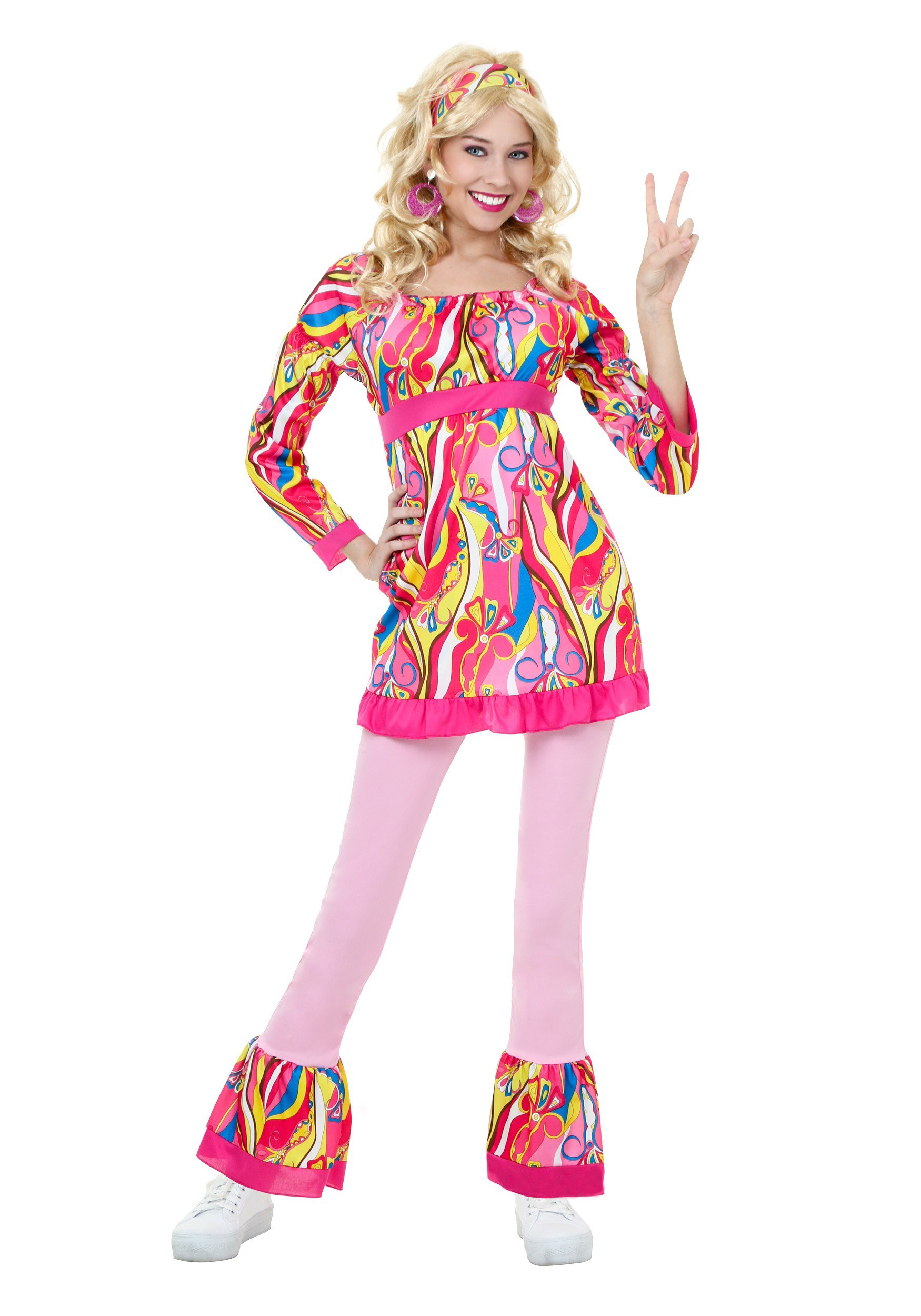 Plus Size Disco Top and Bell Bottoms Costume