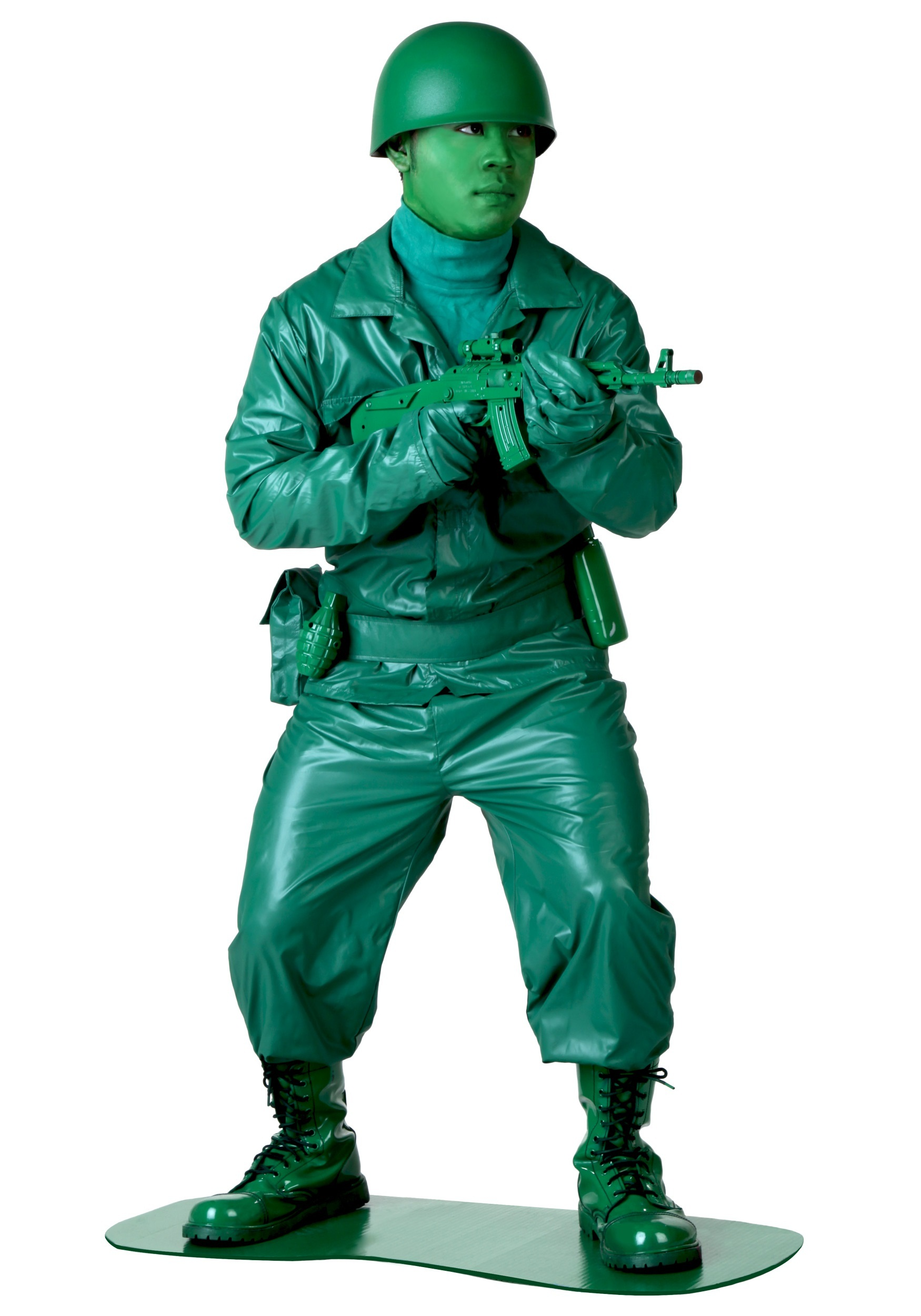 Plus Size Green Army Man Costume