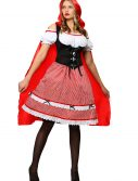 Plus Size Knee Length Red Riding Hood Costume