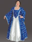 Plus Size Medieval Princess Costume (Blue)