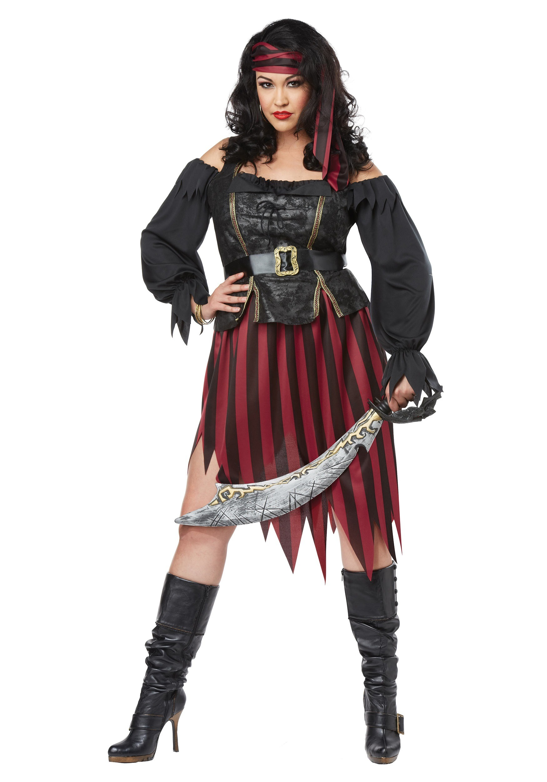 Plus Size Queen of the High Seas Costume