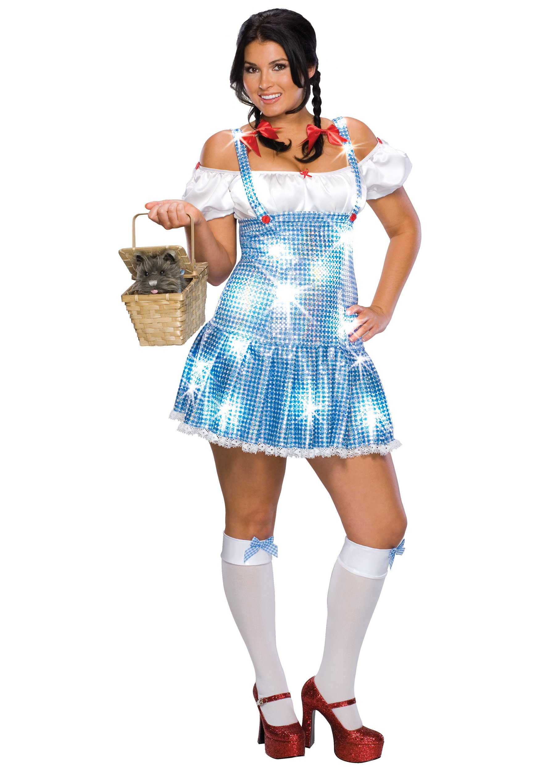 Plus Size Sequin Dorothy Costume