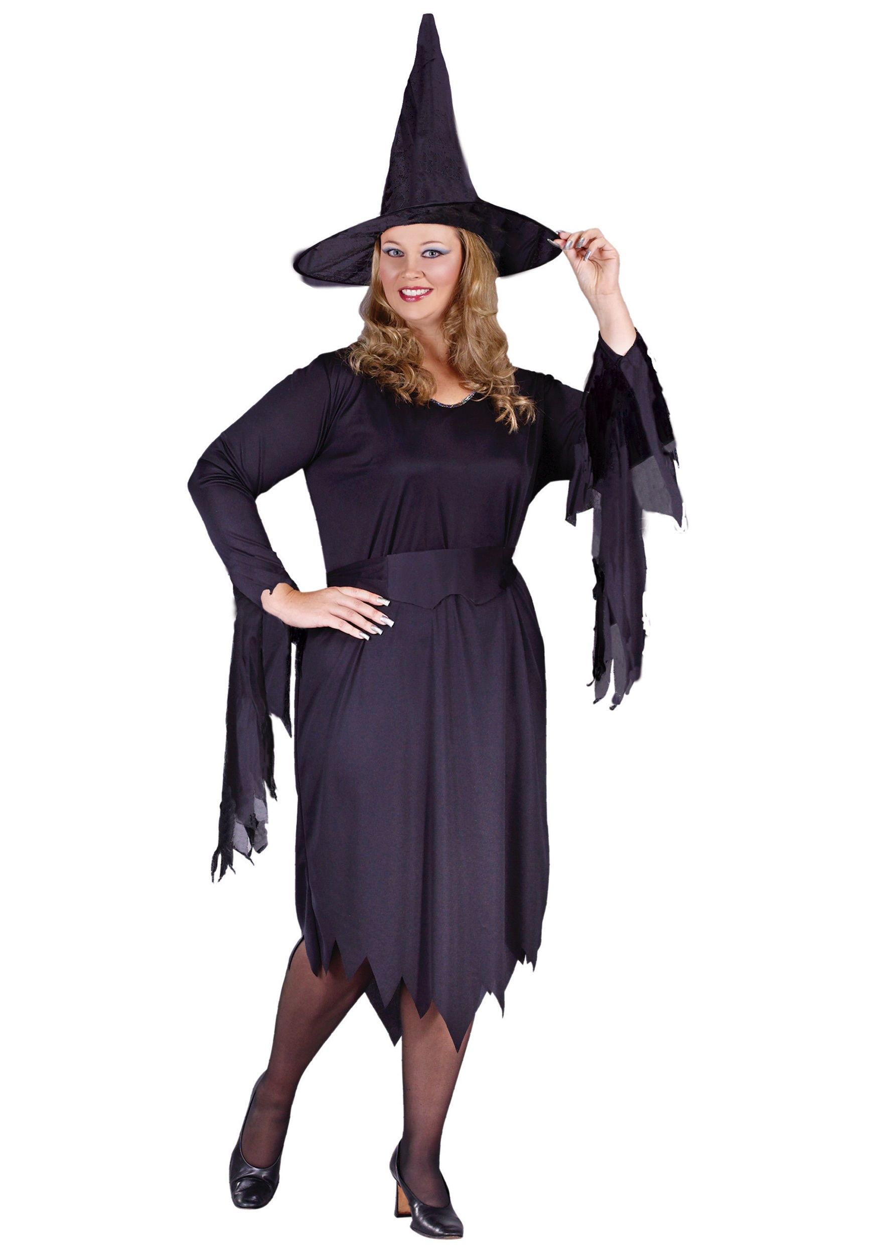 Plus Size Tattered Witch Costume