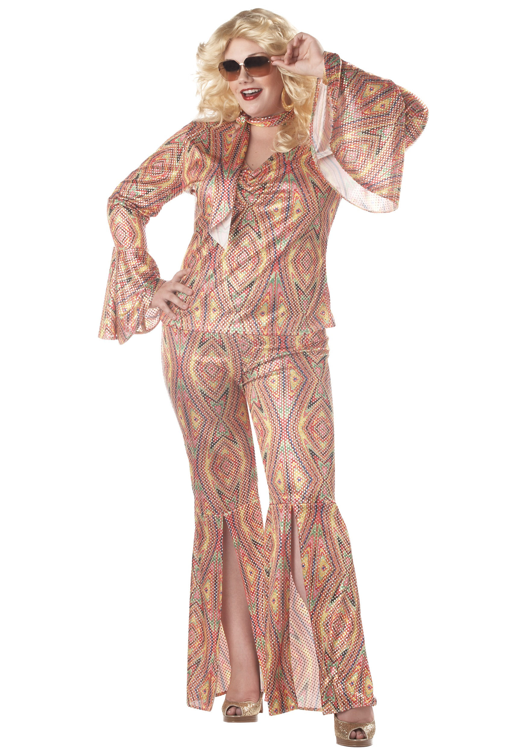 Plus Size Women's Disco Costume