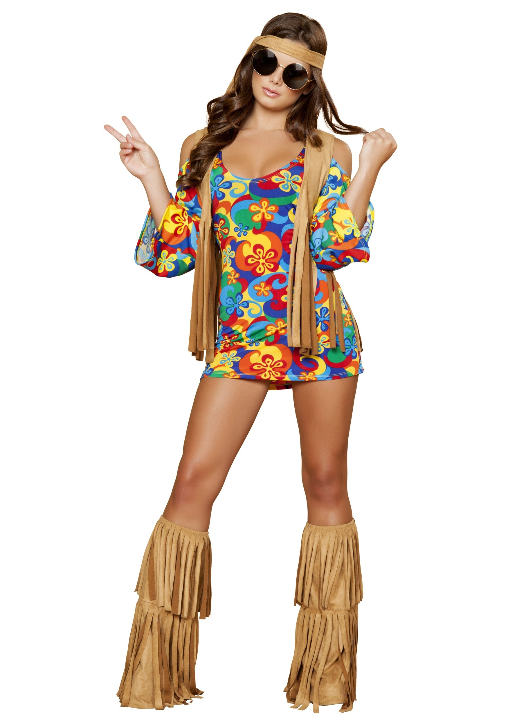 Plus Size Women's Hippie Hottie Costume