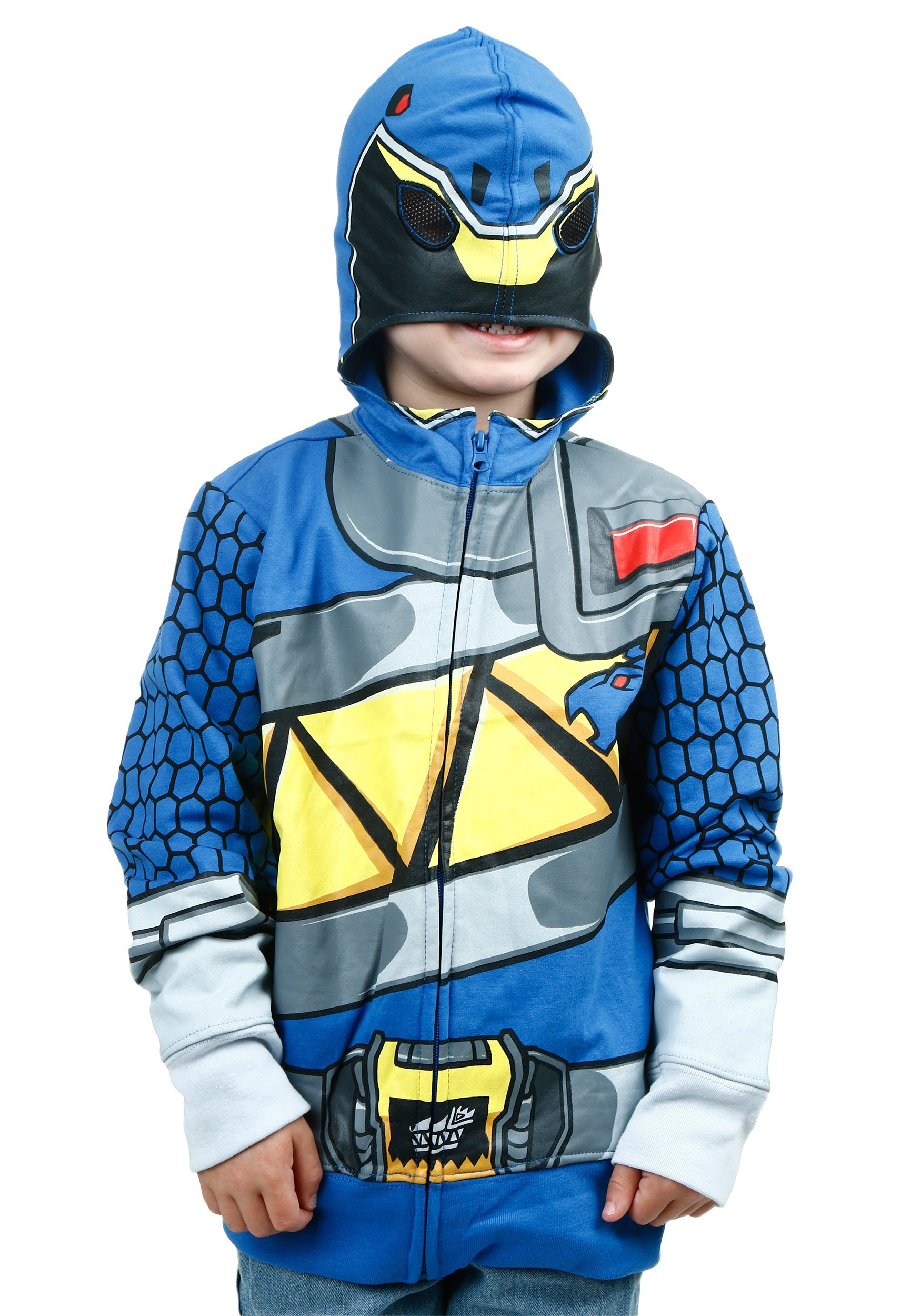 Power Rangers Dino Charge Blue Ranger Costume Hoodie