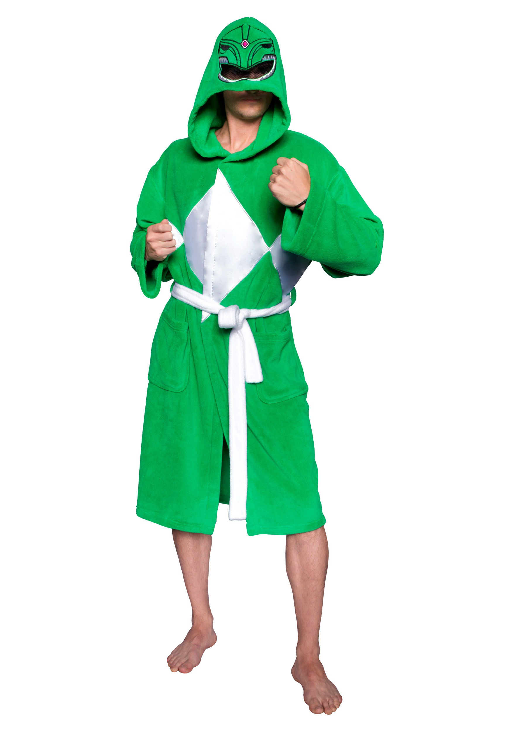 Power Rangers Green Ranger Hooded Robe w/Mesh Mask