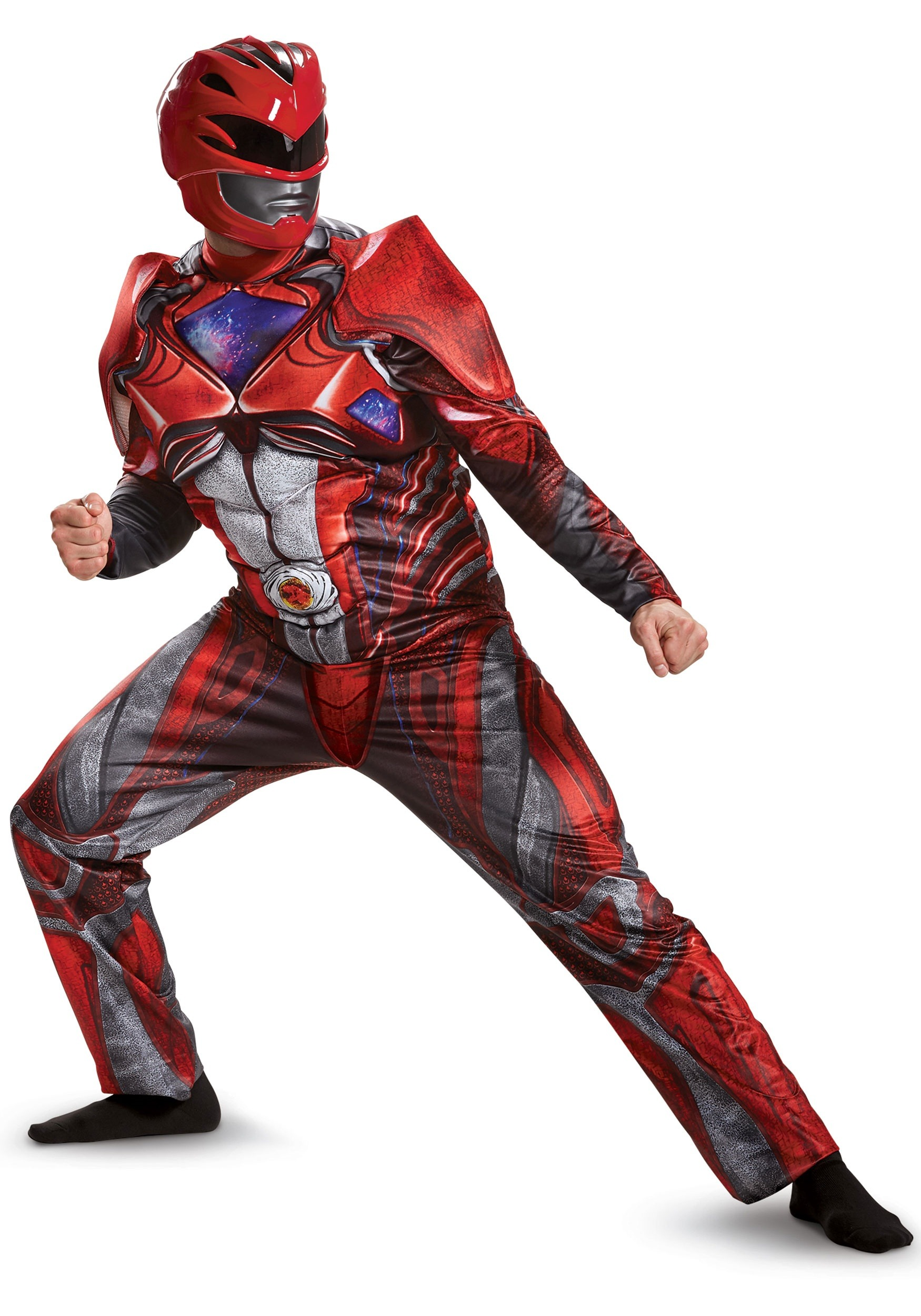 Power Rangers Movie Red Ranger Deluxe Mens Costume