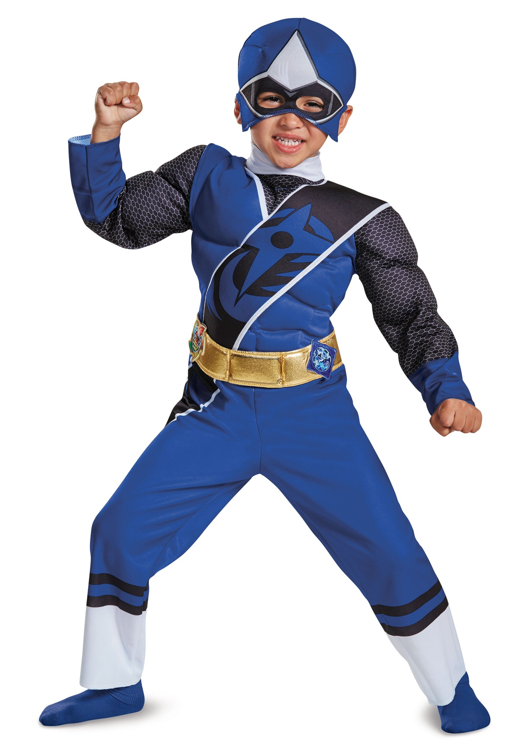 Power Rangers Ninja Steel Blue Ranger Toddler Muscle Costume