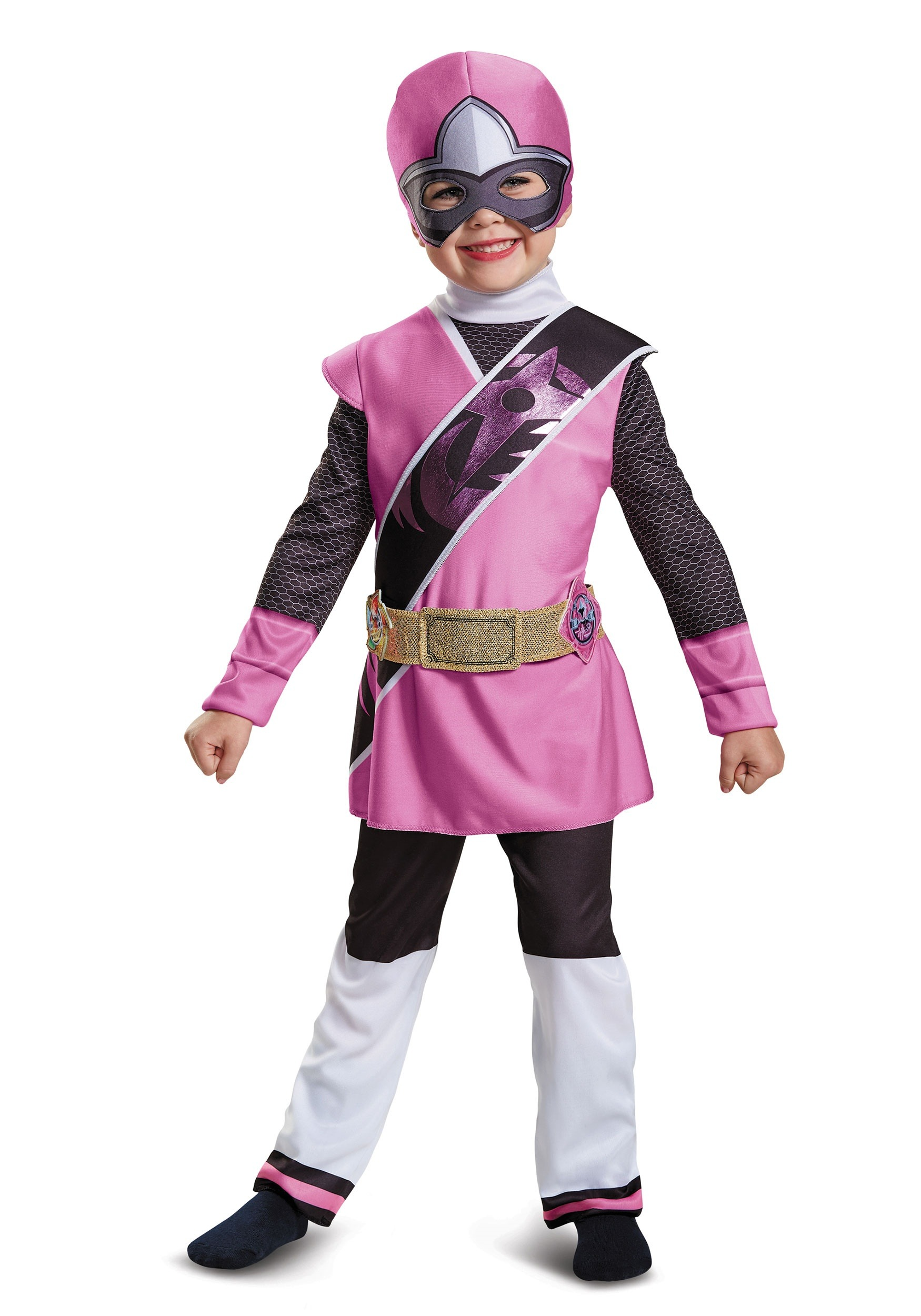 Power Rangers Ninja Steel Pink Ranger Toddler Muscle Costume
