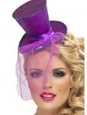 Purple Glitter Mini Top Hat