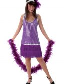 Purple Plus Size Flapper Dress