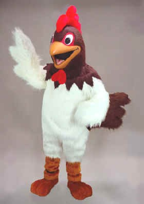 Randy Rooster Mascot Costume