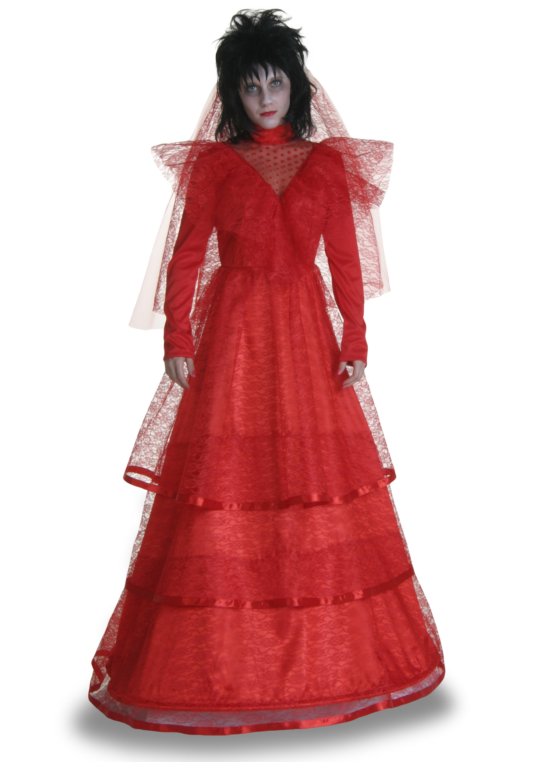 Red Gothic Wedding Dress Costume