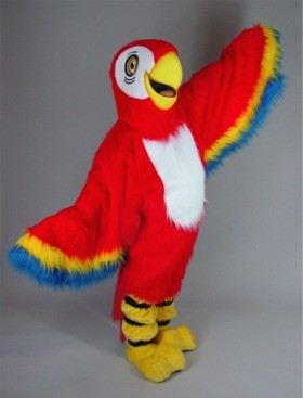 Red Macaw Mascot Costume