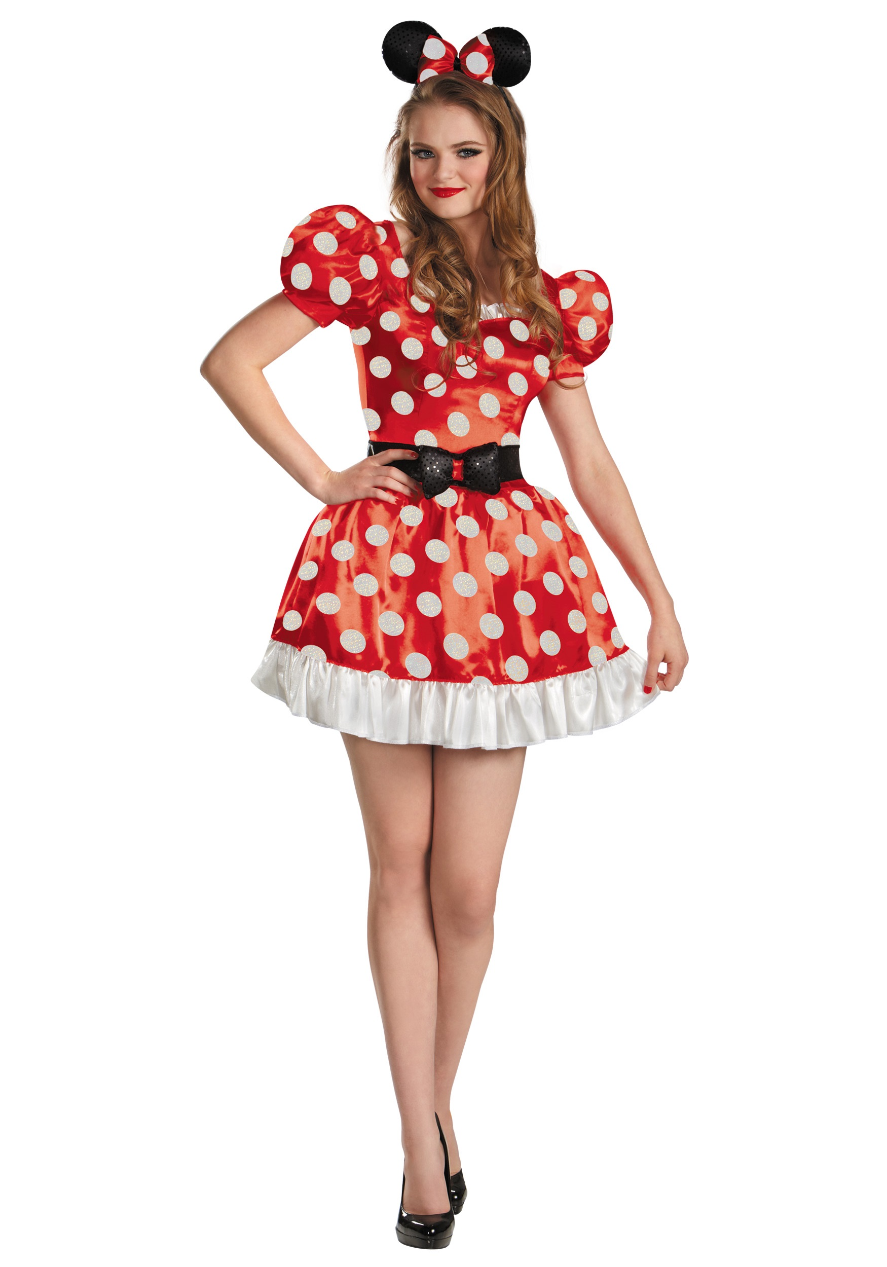 Red Minnie Classic Adult Costume