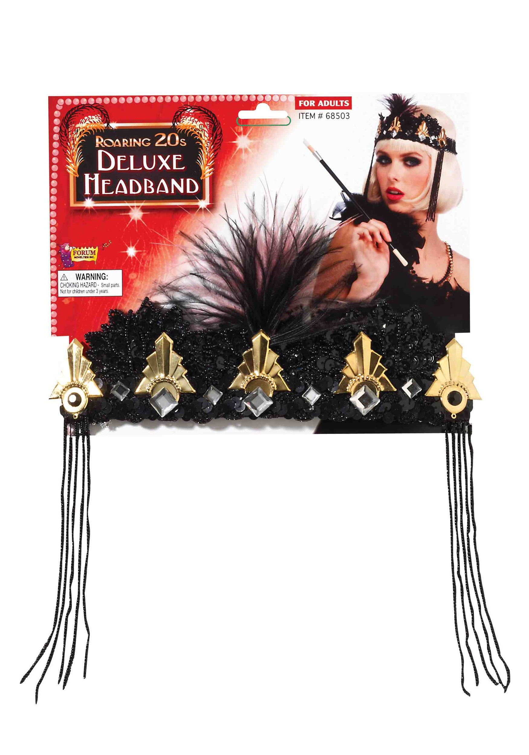 Roaring 20's Deluxe Beaded Flapper Headband