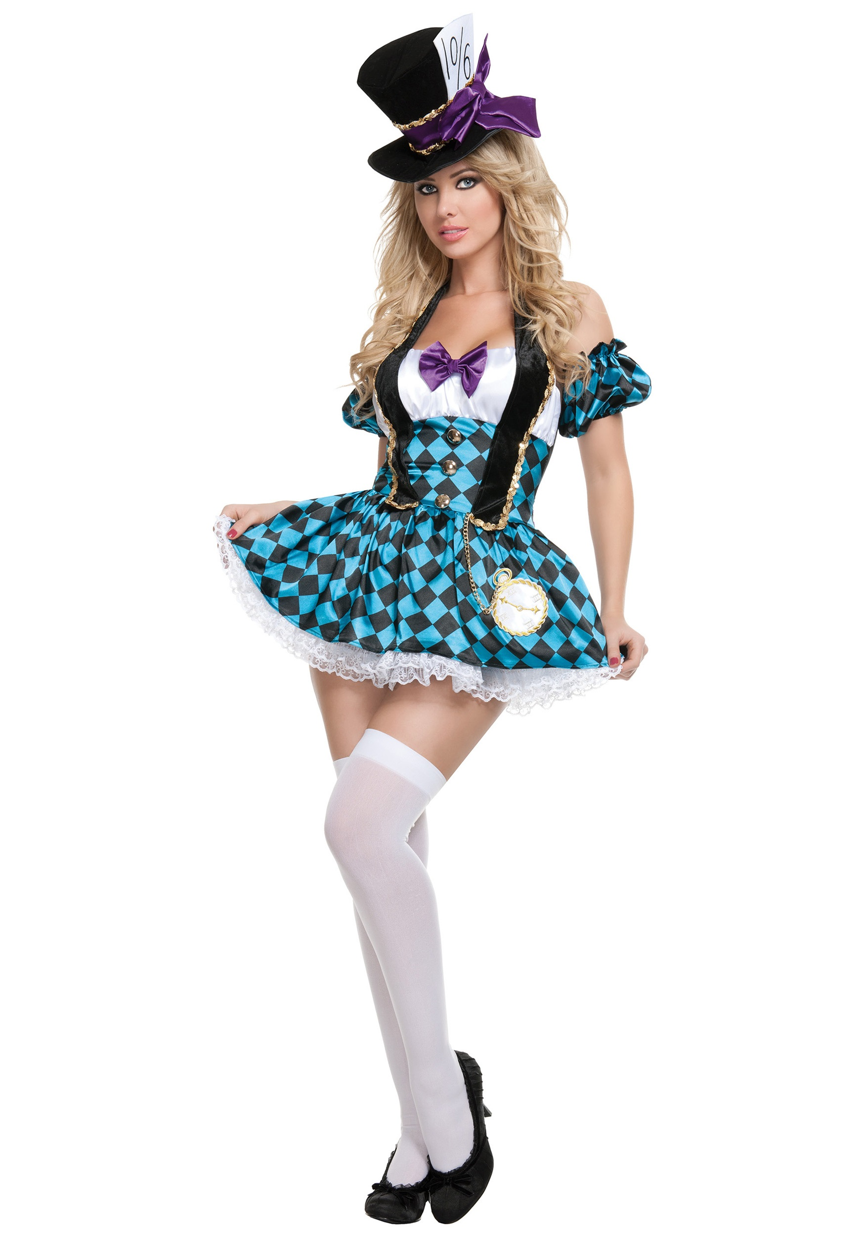 Sexy Checkered Mad Hatter Costume
