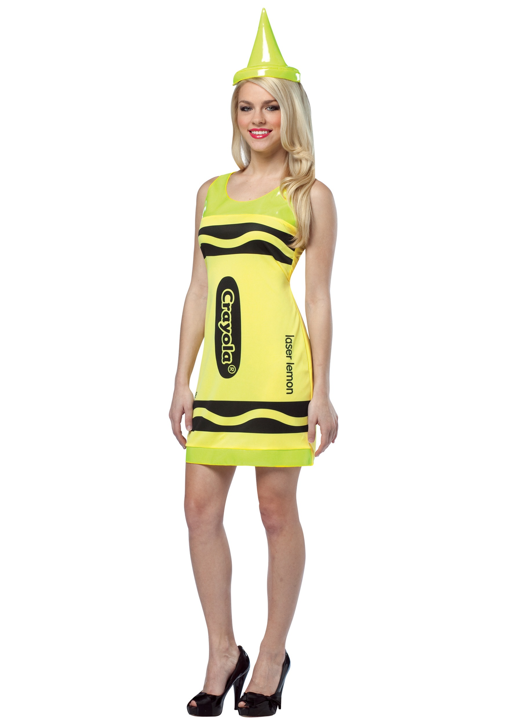 Sexy Laser Lemon Crayon Dress